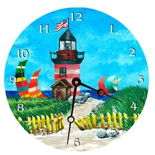 "Travel and Leisure 10"" Light House Wall Clock"