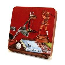 Sports Red Golf Tiny Times Clock