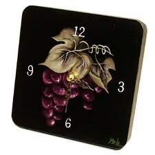 <strong>Lexington Studios</strong> Home and Garden Grapes Tiny Times Clock