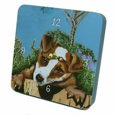 Animals Jack Russell Tiny Times Clock