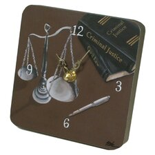 <strong>Lexington Studios</strong> Home and Garden Scales of Justice Tiny Times Clock