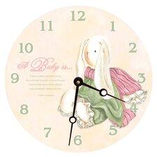 "10"" Baby Bunny Wall Clock"