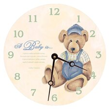 "<strong>Lexington Studios</strong> 18"" Baby Bear Wall Clock"