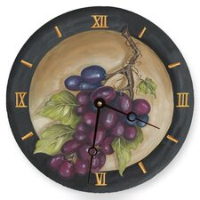 Vinyard Grape Round Clock