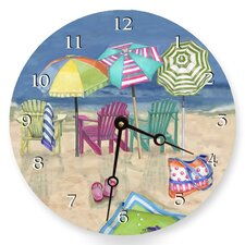 "10"" Adirondack Summer Wall Clock"