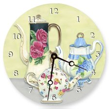 "18"" Chic Teapots Wall Clock"