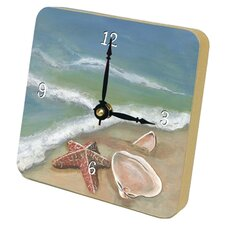 <strong>Lexington Studios</strong> Ocean's Shells Beach Tiny Times Desk Clock