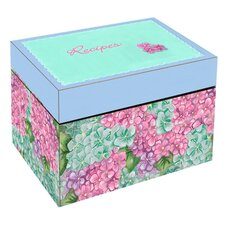 Summer Hydrangea Large Recipe Box