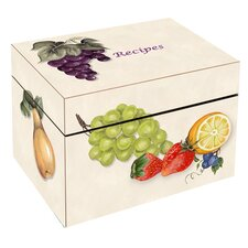 <strong>Lexington Studios</strong> Fruit Large Recipe Box