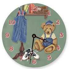 "10"" Brad's Bear Wall Clock"