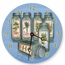 "18"" Herbs Wall Clock"