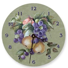"<strong>Lexington Studios</strong> 18"" Fruit Wall Clock"