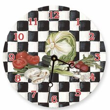 "<strong>Lexington Studios</strong> 18"" Veggies Checker Wall Clock"