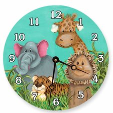 "Animals 18"" Zoo Wall Clock"