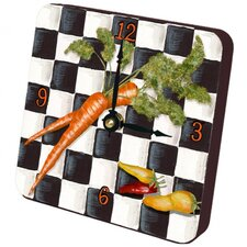 Carrots Checker Tiny Times Clock