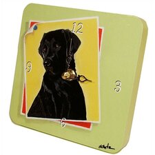 Animals Black Lab Tiny Times Clock