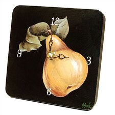 Home and Garden Pear Tiny Times Clock