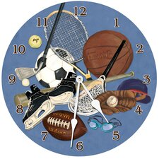 "Sports 10"" Little Athlete Wall Clock"