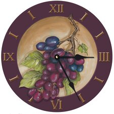 "10"" Vinyard Grape Wall Clock"