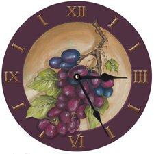 """10"""" Vinyard Grape Wall Clock"""