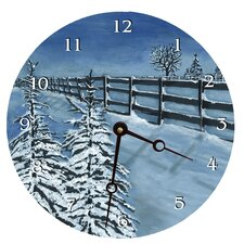 Fresh Snow Round Clock