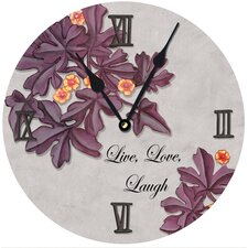 Live Love Laugh Round Clock