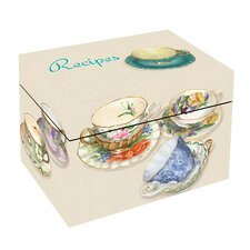 <strong>Lexington Studios</strong> Tea Cups Recipe Box