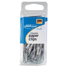 200 Count Standard Size Paper Clip in Silver (Set of 6)