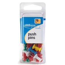 75 Count Assorted Colored Push Pin (Set of 4)