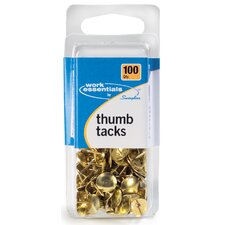 100 Count Gold Thumb Tack (Set of 6)