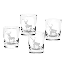 Glen Lodge 12 oz. Stag Double Old Fashioned (Set of 4)