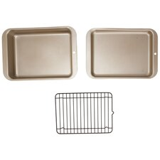 <strong>Nordicware</strong> Compact Ovenware 3 Piece Grilling and Baking Set