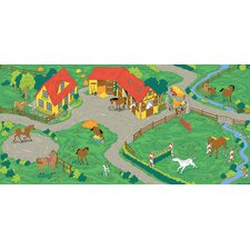 <strong>Learning Carpets</strong> Play Carpet Horse Stable Kids Rug