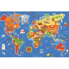 Play Carpet Where In The World Kids Rug