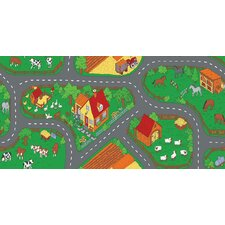 Play Carpet Down At The Farm Kids Rug