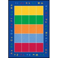 Cut Pile ABC Squares Kids Rug