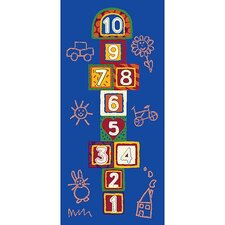 <strong>Learning Carpets</strong> Jump 123 Hopscotch Kids Rug