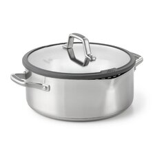 Easy System 5-qt. Stainless Steel Round Dutch Oven