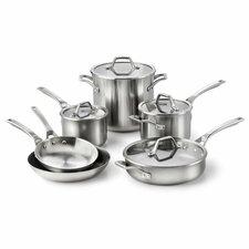 <strong>Calphalon</strong> AcCuCore 10-Piece Cookware Set