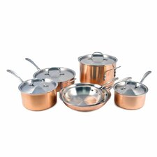 <strong>Calphalon</strong> Try-Ply Stainless Steel 10-Piece Cookware Set