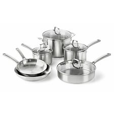 <strong>Calphalon</strong> Stainless Steel 10-Piece Cookware Set