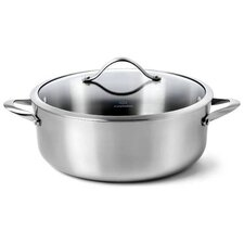 Contemporary Stainless Steel 8-Qt. Round Dutch Oven