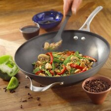 "Contemporary Nonstick 12"" Flat Bottom Wok"