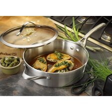 Contemporary Stainless Steel 3-qt. Saute Pan with Lid