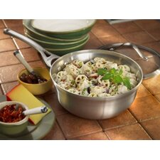 Contemporary Stainless Steel 2-qt. Chef's Pan with Lid