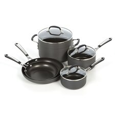 Simply Hard-Anodized Aluminum 8-Piece Cookware Set