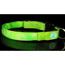 LED Yellow Bone Print Flash Collar