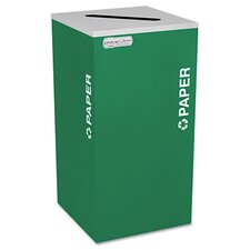 Kaleidoscope Collection Recycling Receptacle, 24 Gal