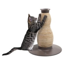 Catit Blow Molded Hourglass Corn-husk and Sisal Scratching Post