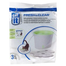 Catit Replacement Foam Filter Cartridge for Fresh and Clear Fountains